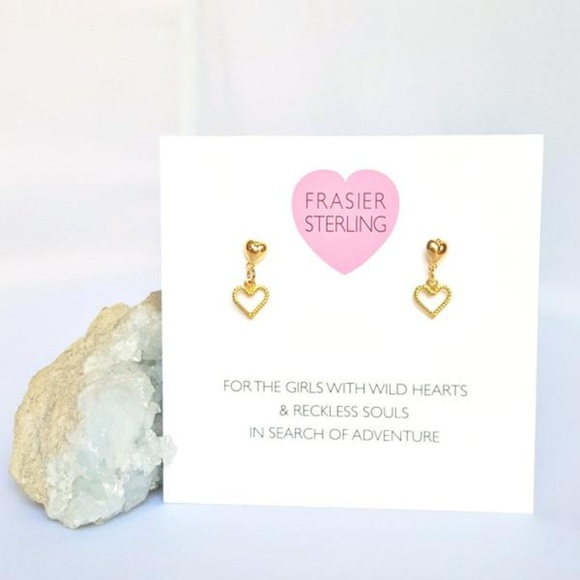 Frasier Sterling Jewelry - Tiny Drop Heart Studs